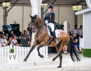 Jana Lang and Baron in the team test at the 2020 European Junior Riders Championships :: Photo © Lukasz Kowalski