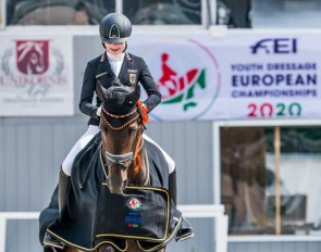 Clara Paschertz and Danubio OLD win the warm-up preliminary test at the 2020 European Children Championships :: Photo © Lukasz Kowalski