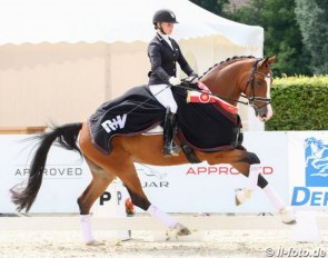 Annika Korte and Beliza at the 2020 Westfalian Young Horse Championships in Munster :: Photo © LL-foto
