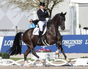 Dorothee Schneider and Lordswood Dancing Diamond at the 2020 German Dressage Championships in Balve :: Photo © LL-foto