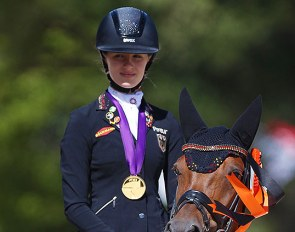 Shona Benner and Der Kleine Sunnyboy win team gold at the 2020 European Pony Championships :: Photo © Astrid Appels