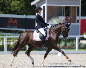 Liva Addy Guldager Nielsen and D'Artagnan at the 2020 European Pony Championships :: Photo © Astrid Appels