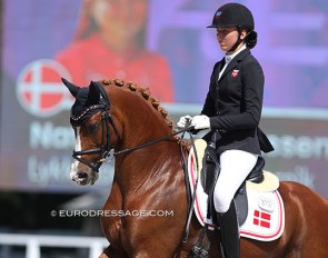 Nathalie Thomassen and Lykkehøjs Dream of Dornik at the 2020 European Pony Championships :: Photo © Astrid Appels
