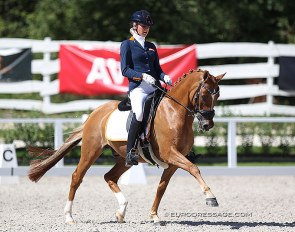 Lara van Nek and Baumann's Despino at the 2020 European Pony Championships :: Photo © Astrid Appels