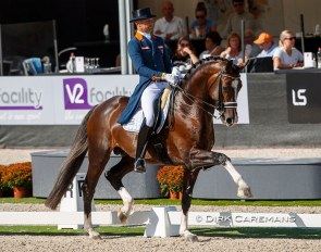 Hans Peter Minderhoud and the 7-year old Invictus became the Dutch Small Tour Champions at PSG/Inter I level last week :: Photo © Dirk Caremans