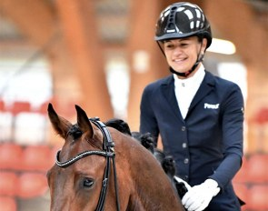Jessica Michel-Botton and Don Amour Waverley win at the 2020 French Breeding Championships