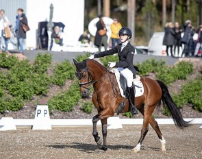 Roosa Salo and  Sir Maximus Welshwarrior win the pony division at the 2020 Finnish Dressage Championships :: Photo © Hanna Heinonen