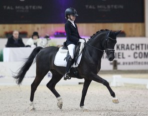 Evi van Rooij and King Stayerhof's Jango at the 2018 CDI Lier :: Photo © Astrid Appels