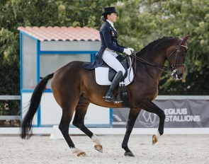 Beatriz Ferrer-Salat and Elegance win the 2020 Spanish Grand Prix Championships at Las Cadenas :: Photo © Lola Almeda