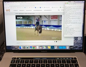 Watching the night owl Grand Prix class at the 2020 CDI Keysoe via live stream