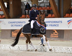 Jean-Marc Favereau on Deauville de Hus at the 2020 French 7-year old Championships :: Photo © Les Garennes