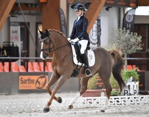 Fleur Weijkamp and Don Amour de Hus win the Children division at the 2020 French Youth Riders Championships :: Photo © Les Garennes