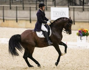 Abraham Pugh and Elfenperfekt at the 2020 CDI-W Tryon :: Photo © Sharon Packer