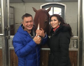 Titan and Shirley Wilaras at Platinum Stables in Riel (NED) :: Photo © Rick Helmink