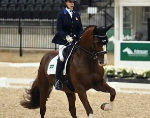 Cynthia Screnci and Eragon VF at the 2020 U.S. Para Dressage Championships :: Photo © Lindsay McCall