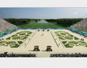 3D render of the equestrian venue at Versailles for the 2024 Olympic Games