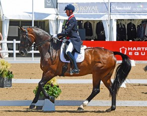 "Carl Hester and Nip Tuck last year at Hartpury. Hester will ride ""En Vogue"" in the 2020 British GP Championships"