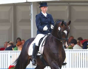 Anja Engelbart and De Champ OLD at the 2011 World Young Horse Championships :: Photo © Astrid Appels