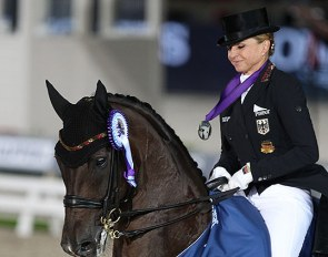 Dorothee Schneider and Showtime win team gold and double silver at the 2019 European Dressage Championships :: Photo © Astrid Appels