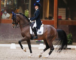Larissa Pauluis and Flambeau at the 2021 CDN Grote Brogel :: Photo © Astrid Appels