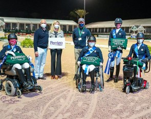 The US Para Dressage Team at the 2021 CPEDI 3* Wellington :: Photo © Sue Stickle
