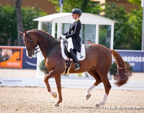 Isabell Werth and Bella Rose at the 2021 CDI Mannheim :: Photo © Sina Kuiper