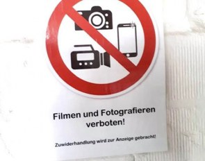 No more photography and videoing allowed at the Warendorf state stud, a public institution funded with tax money