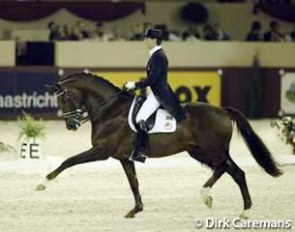Tineke Bartels and Jazz at the 2002 CDI Maastricht :: Photo © Dirk Caremans