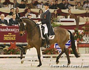 Carl Hester and Escapado at the 2004 CDI-W Mechelen :: Photo © Astrid Appels