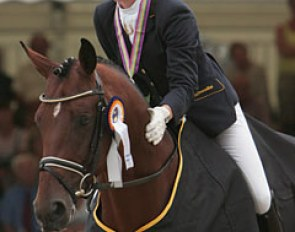 Anna Sophie Fiebelkorn and Imperio at the 2008 World Young Horse Championships :: Photo © Astrid Appels