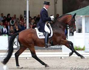 Hubertus Schmidt and Imperio at the 2015 German Dressage Championships in Balve :: Photo © LL-foto