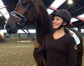 Alexandra Andresen with her new young stallion Hesselhoj Donkey Boy