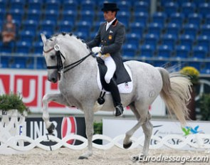 Jose Antonio Garcia Mena and Norte at the 2015 European Championships :: Photo © Astrid Appels
