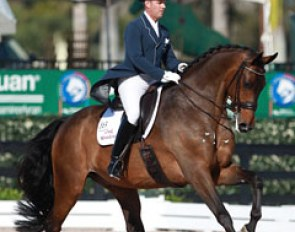 Chris Hickey and Ronaldo at the 2015 CDI Wellington :: Photo © Astrid Appels