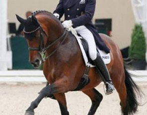 Hubertus Schmidt and Imperio at the 2016 German Dressage Championships in Balve, Germany :: Photo © LL-foto