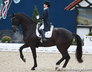 Japanese Olympic team candidate Akane Kuroki and Toots at the 2016 CDI Hagen :: Photo © Astrid Appels