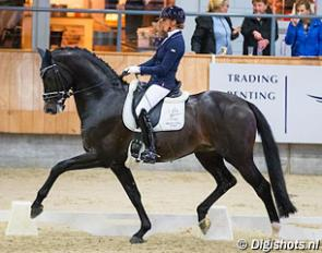 Emmelie Scholtens and Indian Rock at the 2017 KWPN Stallion Competition leg in Ermelo :: Photo © Digishots