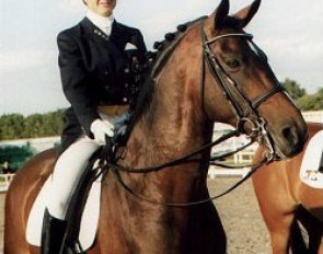Vicky Smits and Illuster at 1997 Dressage at Hickstead