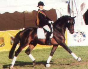 Julia Katharina von Platen with Keep Cool at the 1999 Bundeschampionate