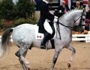 Gina Smith on Fledermaus (by Purioso) at the 1997 Washington International Horse Show