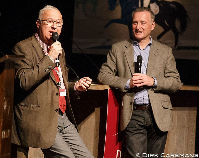 Bernard Maurel and Richard Davison at the 2015 Global Dressage Forum :: Photo © Dirk Caremans
