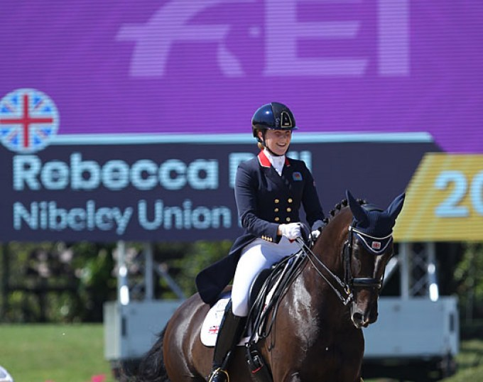 Rebecca Bell and Nibeley Union Hit at the 2019 European Young Riders Championships :: Photo © Astrid Appels
