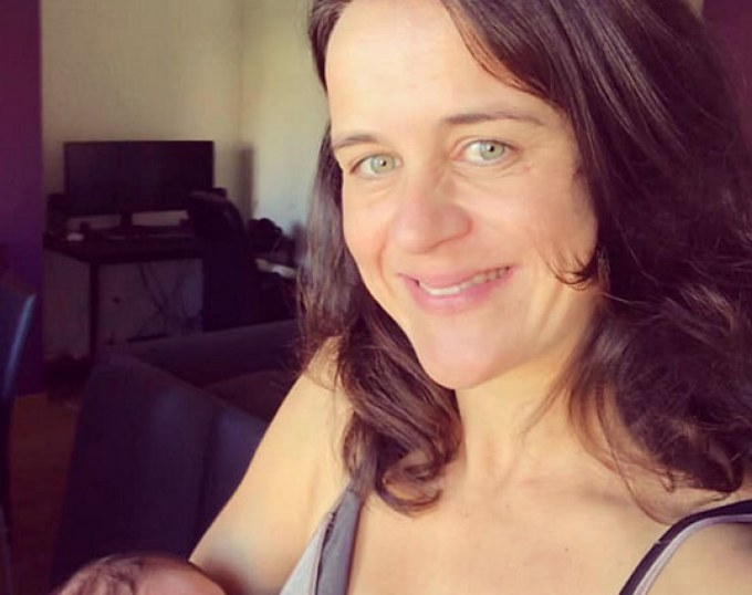 Sarah Furtado (née Warne) and her newborn daughter Madalena Furtado