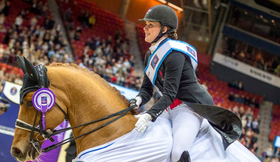 """That's my boy!"" Denmark's Cathrine Dufour brought the crowd to their feet with a brilliant winning performance from her lovely gelding Atterupgaards Cassidy at the eighth leg of the World Cup Dressage 2017/2018 Western European League in Gothenburg"