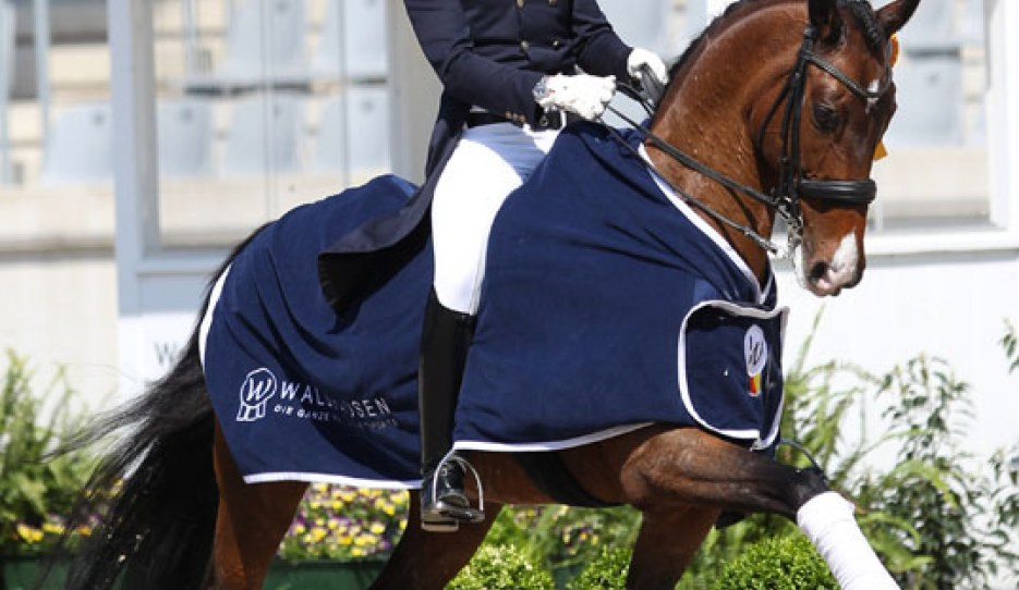 Henri Ruoste and Roccabar at the 2018 CDI Aachen :: Photo © Astrid Appels