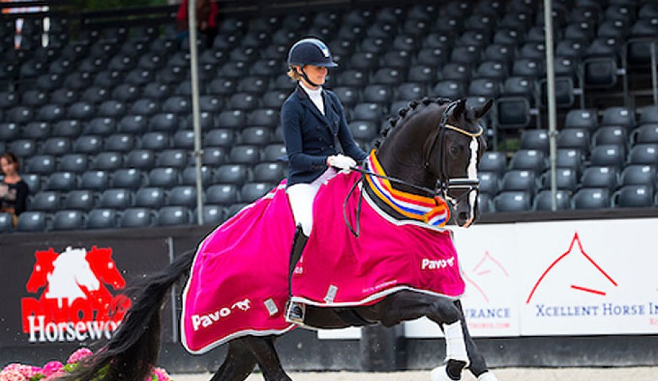 Marieke van der Putten and Jameson RS2 Win the 2018 Pavo Cup Finals for 4-year olds :: Photo © Digishots