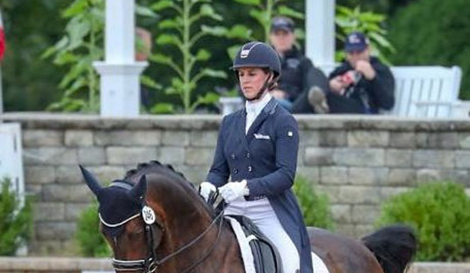 Jennifer Williams at the 2018 U.S. Dressage Championships :: Photo © Sue Stickle
