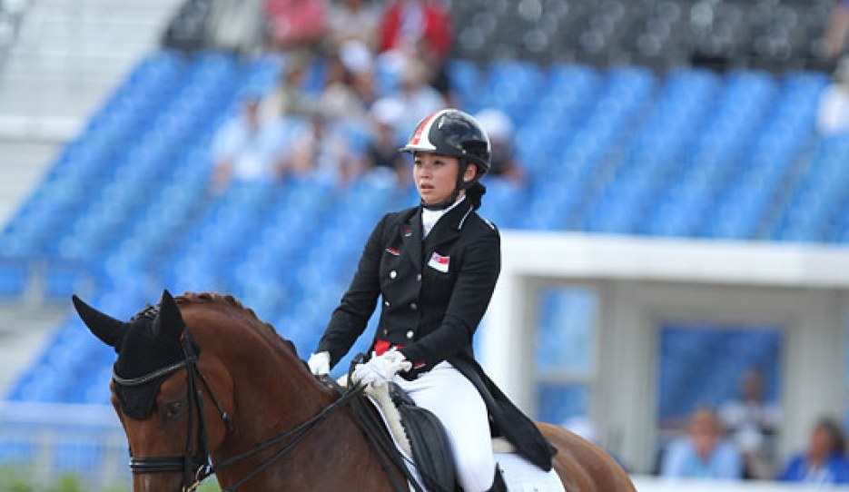 Caroline Chew and Tribiani at the 2018 World Equestrian Games :: Photo © Astrid Appels