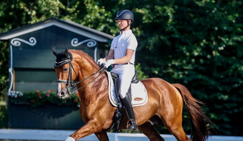 Florian Zimmermann and Happiness Returns C at the Austrian WCYH selection trial at the Gutenhof :: Photo © Petra Kerschbaum