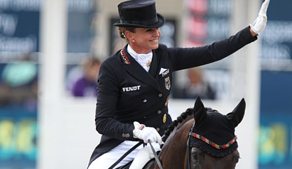 Dorothee Schneider and Showtime at the 2019 European Dressage Championships :: Photo © Astrid Appels